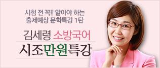 김세령 소방국어 시조 1만원특강